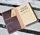 Handmade Leather Cover Field Notes Card Horween Bison Chromexcel Brown Roughneck