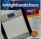 Weight Watchers Digital Glass Scale 400 lbBlue Backlight BY Conair