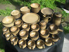 DENBY England Stoneware Set Romany Brown Plate Dishes Bowls Cups Coffee Creamer