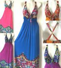 PLUS SIZE Women Long Maxi summer beach hawaiian Boho evening party Sexy sundress