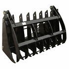 60 V2 Root Grapple Rake Clamshell Attachment bucket skid steer rock bobcat
