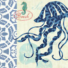 Sea Life Jellyfish by Jennifer Brinley Graphic Art on Wrapped Canvas
