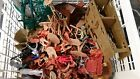 HUGE Lot of 200 + MARX TIMMEE TIMPO Plastic Soldiers Indians WWII Knights MIXED