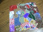 crazy quilt style dark to med mulity color 10 inch square quilt block