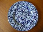 Queen's China CALICO BLUE CHINTZ Floral (ENGLAND)  SALAD Plate 8 3/8
