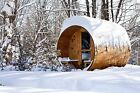 Barrel Sauna Finger Joint CedarPorchElectric Heater8 Feet Pre order Jun 5