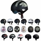 TORC T55 Half 1 2 Open Face Helmet Motorcycle Scooter DOT Drop Down Sun Visor