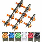10pcs CNC Motorcycle Aluminium M5 Body Fairing Bolts Fastener Clips Screw Set