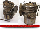 Vintage Coal Miners Minning Carbide Light Lamp Fred R Belt Co Chicago ILL USA