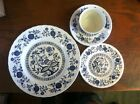 Enoch Wedgwood England Blue Heritage Pattern, plate, bread, cup and saucer