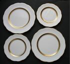 2 Salad Plates White Gold Encrusted Band Scalloped ROA62