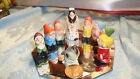 VINTAGE RARE DISNEY MINIATURE SNOW WHITE AND THE SEVEN DWARFS SET 9 PCS