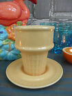 the Peddler Ice Cream Cone Dessert Dish Fiesta Sunflower Yellow