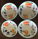 Herend Village Pottery Bouquet Fruit Hungary Set of 4 Cereal Bowls - Near-Mint