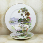 Vintage Shelley English Lakes 3 Piece Teacup, Saucer and Lunch Plate Set