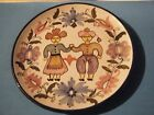 PAINTED CERAMIC POTTERY DECORATIVE PLATE