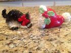 Fitz And Floyd Kitty Claus Salt And Pepper Shakers Christmas