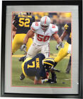 Vernon Gholston signed Buckeyes 16x20 Photo Custom Black Framed vs Michigan