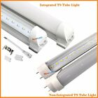 10pcs LED 4 ft Foot T8 20W Integrated Tube Light Lamp 6000K CLEAR FROSTED LENS