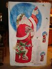 DAISY KINGDOM FATHER CHRISTMAS DOOR QUILT PANEL FABRIC OLD WORLD SANTA NATURE