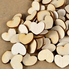 100pcs Wooden Wood Heart Shape Pieces Painting Craft Cardmaking Scrapbooking