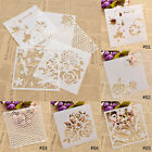Plastic Layering Stencils Template DIY Painting Tool Flower Wave Dragonfly 1pc