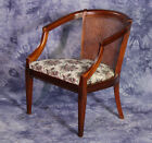 Fine Antique Caned Floral Chair Armchair Side Settee Mid Century Modern Vintage