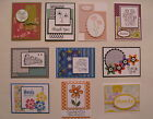 10 Handmade Thank You cards envelopes Stampin Up +more