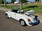 Volkswagen Beetle Classic 2 door Convertible Triple White 1976 Volkswagen Beetle Convertible All Original Low Mileage