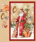 Old World Santa Fabric Panel Large Vintage Christmas Springs Creative Cotton