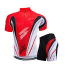 Mens Pro Team Cycling Short Sleeve Jersey Set Bike Bicycle Clothing Pad Shorts
