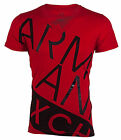 ARMANI EXCHANGE Mens T Shirt BIAS Slim Fit RED Casual Designer 45 Jeans NWT