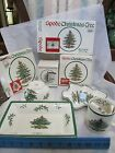 LOT 4 SPODE CHRISTMAS TREE DISH NUT BOWL CUP/MUG RECTANGULAR TRAY EUC PORCELAIN