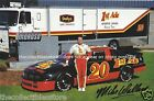 MIKE WALLACE AUTOGRAPHED SIGNED 1ST ADE MOROSO RACING NASCAR PHOTO POSTCARD