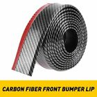 25 100 Car Front Bumper Carbon Fiber Lip Splitter Chin Spoiler Body Kit Trim