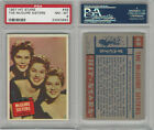 1957 Topps, Hit Stars, #48 The McGuire Sisters, PSA 8 NMMT