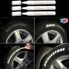 3 LOT TIRE TREAD White MARKER WATERPROOF PERMANENT PAINT PEN RUBBER METAL GLASS