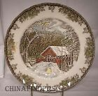 JOHNSON Brothers FRIENDLY VILLAGE Large Dinner Plate - Covered Bridge - 10-1/2