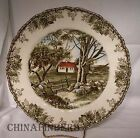 JOHNSON Brothers FRIENDLY VILLAGE Large Dinner Plate - Stone Wall - 10-1/2