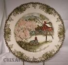 JOHNSON Brothers FRIENDLY VILLAGE Large Dinner Plate - The Well - 10-1/2
