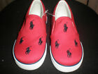 TODDLER SIZE 9 RALPH LAUREN RED POLO CANVAS SNEAKERS