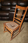 Antique Wicker Needs Cane Repair Rocker Rocking Chair