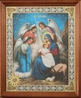 Russian Christmas Icon Framed Under Glass Christian Gift Jesus Nativity
