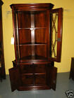 Gorgeous Antique Mahogany Corner Display Cabinet Cupboard with Key