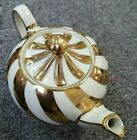 SADLER MADE IN ENGLAND TEAPOT 1552 BC GOLD SWIRL
