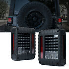Xprite G2 LED Tail Light Black with Clear Lens For 07 18 Jeep Wrangler JK JKU