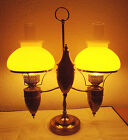 GONE WITH THE WIND VINTAGE THE OLD SOUL STUDENT BRASS ELECTRIC HURRICANE LAMP