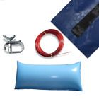 24 Ft Round Above Ground Winter Pool Cover w 4x8 Closing Air Pillow Kit