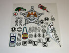 Police Force Pinball Machine Insert Decals LICENSED