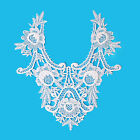 11.25x12 14 Colors Bridal Venice Embroidered Bodice Applique Lace By Piece